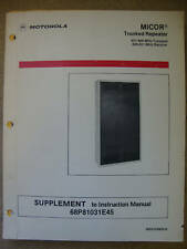 Motorola MICOR 800MHz Trunked Repeater Inst Manual #299