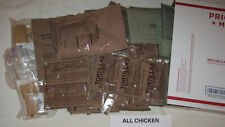 """Meal Ready to Eat (MRE) """"14/41"""" Emergency Meal Kit (All Chicken) 9 lbs - Lot F"""