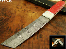 "9"" HANDMADE DAMASCUS STEEL TACTICAL FIXED BLADE TANTO KNIFE TOP! (2792-9"