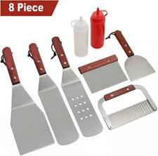 ROMANTICIST 8Pc Professional BBQ Griddle Accessories Kit in Gift Box - Heavy...