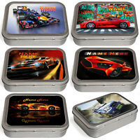 Personalised Car Tobacco Tin 2oz Baccy Fathers Day Cigarette Birthday Gift Race