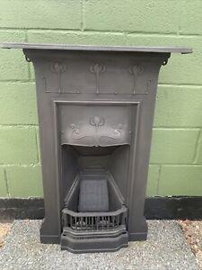 Original Art Nouveau cast iron fireplace Restored  Ready For Fitting £295