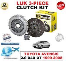 para Toyota Avensis 2.0 D4D DT 1999-2008 ORIGINAL LUK Kit de 3 PIEZAS EMBRAGUE