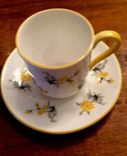 Shelley China Canterbury Shape Yellow Charm #13863 Miniature Cup & Saucer Set