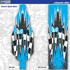 TWO TLR 22 4.0 2wd 1:10 18 MIL INDOOR Chassis Skins- Splat Blue