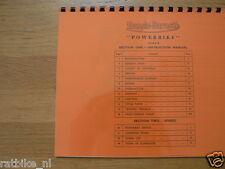 F0101 FRANCIS-BARNETT---INSTRUCTION MANUAL AND SPARES LIST POWERBIKE--