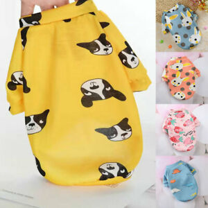 Puppy Dog Cartoon Sweater Coat Small Pet Warm Clothing T-Shirts Dog Accessories