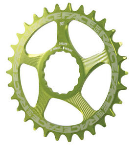 Race Face Single Narrow Wide 1x MTB Direct Mount Cinch Chainring 32t Green