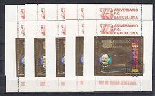 10x Guinea Ecuatorial Sport Soccer Football  Barcelona CTO  Gold [B8]