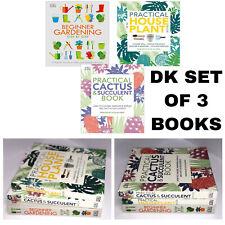 Gardening Books Dk Beginner Gardening House Plant Cactus & Succulent 3 Book set