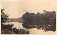 Real Photo Postcard Scene on the St. Joe River in South Bend, Indiana~123512