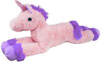 """BRUBAKER Plush Pink Unicorn 43"""" XXL Soft Cuddly Toy Stuffed Animal Gift Kids"""