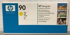 Genuine New HP 90 Yellow Printhead & Cleaner C5057A - Factory Sealed Box 04/2018