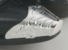 New!  Western Cowboy Boot Tips Rand- Engraved Silver Toe Tips