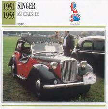 1951-1955 SINGER SM ROADSTER Sports Classic Car Photo/Info Maxi Card
