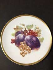 Vintage PMR Bavaria Germany Golden Crown E & R 1886 Proc Harvest Fruit Plate