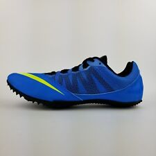 NEW Nike Zoom Rival S 7 Mens Track Sprint Shoes 616313 - Blue Neon Green Size 11