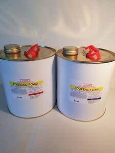 Pouring Foam Polyurethane 25:1 expanding liquid foam 37kg per Cubic Metre 8litre