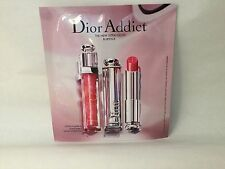 DIOR ADDICT The New Ultra Gloss & Lipstick Sample Carded Sample Palette W/Brush