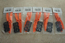 HQ Prop Orange 5x4.5 Direct Drive 6-CCW/6-CW Propellers(12 props)