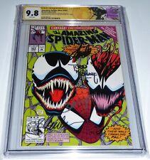 Amazing Spider-Man #363 CGC SS 4x Signature STAN LEE TODD MCFARLANE Carnage 🔥