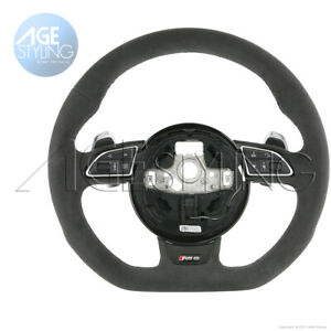 OEM Audi RS6 A6 C7 Quattro Tiptronic Flat Bottom ALCANTARA Steering Wheel 2013-7