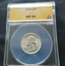 1936 25c ANACS MS64 - Washington Quarter