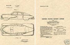 Vintage 1948 TUCKER TORPEDO US PATENT Art Print READY TOFRAME!!!!! Preston