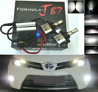 LED Kit S 100W PS19W 12085 5201 6000K White Two Bulbs Daytime Light DRL Upgrade
