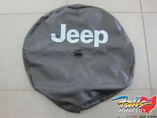 2018 Jeep Wrangler JL Spare Tire Cover w/ Backup Camera Bezel & Jeep Logo OEM