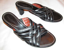 Cole Haan Country cross strap front open toe slides leather shoes 8.5 Aa