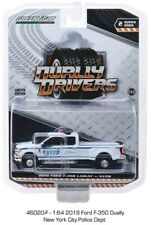 Greenlight Dually Drivers 2, 2019 Ford F-350 Dually - NYPD 1/64 Diecast 46020F