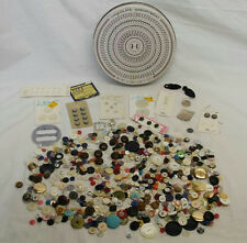 1.6LBS LOT OF VINTAGE & ANTIQUE BUTTONS HERSHEY TIN