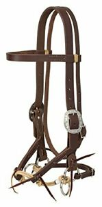 """Weaver Leather Justin Dunn Bitless Bridle Oiled Canyon Rose 1"""" Average"""