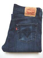 LEVI'S 506 JEANS MEN'S STRETCH STANDARD STRAIGHT LEG W36 L30 DARK BLUE LEVS361