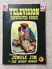 TELEVISION FAVOURITES COMIC - WDL - #2 - JUNGLE JIM IN THE RIVER ROVER - 1955