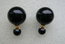 BLOGGERS FAV ZARA 18 MM DOUBLE SIDED BLACK PEARL STUDS CAN BE WORN EACH SIDE