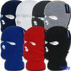 Decky Ski Mask Face Beanie  3 Hole Braided Knit Ski Snowboard Warm Winter