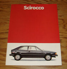 Original 1981 Volkswagen VW Scirocco Sales Brochure 81