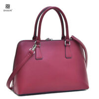 Dasein Womens Handbags Buffalo Leather Satchel Tote Bag Shoulder Bag Purse