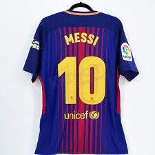 2017-18 Barcelona Player Issue Home Shirt Messi  10 vs Real Madrid Eat Like 0ba8c3b1a90