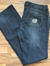 Apple Bottoms Stretchy Dark Wash Jeans Women's Size 14 36X34 (2)