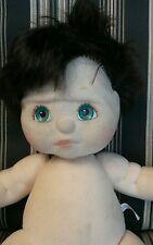 My Child Doll Mattel dark brown short hair aqua / blue green  eyes