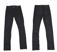 Nudie High Kai Schwarz Denim Schmal Reißverschluss Fly Damen Jeans W28 L32