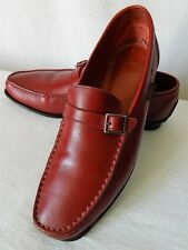 PARABOOT chaussures mocassins femme TOUT CUIR rouge cousu main 6 39 BE