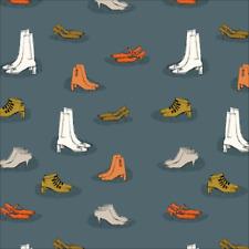 Organic Cotton Fabric, 'Chic Heels, Lisbon Square' Cloud9 Quilters Cotton