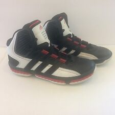 Adidas MisterFly K Size 6 Black/ Running White/ Red SLD High top Sneaker Shoes