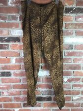 Womens Sheer Leopard Pants Drawstring Size S/M