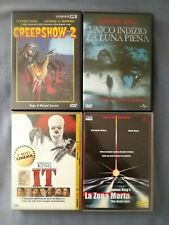 STEPHEN KING 4 DVD: Unico Indizio Luna Piena, IT, Creepshow 2, La Zona Morta