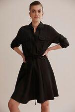 COUNTRY ROAD Beautiful Black Shirt Dress Size 8, 10 RRP $179
